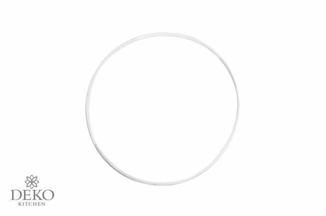 Metallring beschichtet, weiß, 20 cm