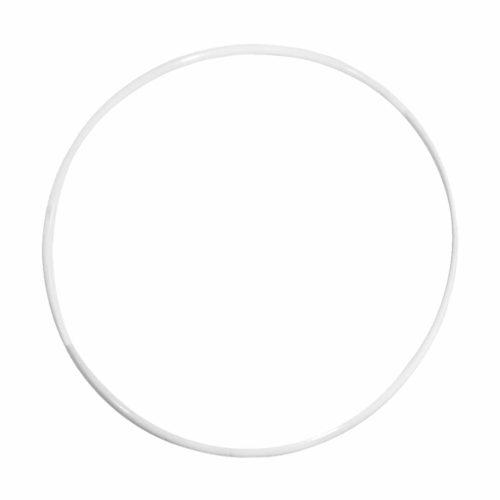 Metallring beschichtet, weiß, 25 cm
