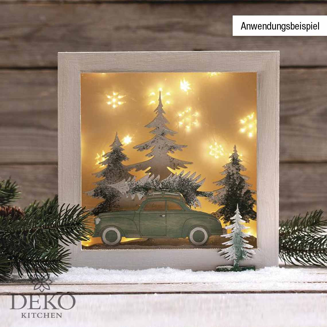 Holz Rahmen 24 X 24cm Mit Acrylglas Deko Kitchen Shop