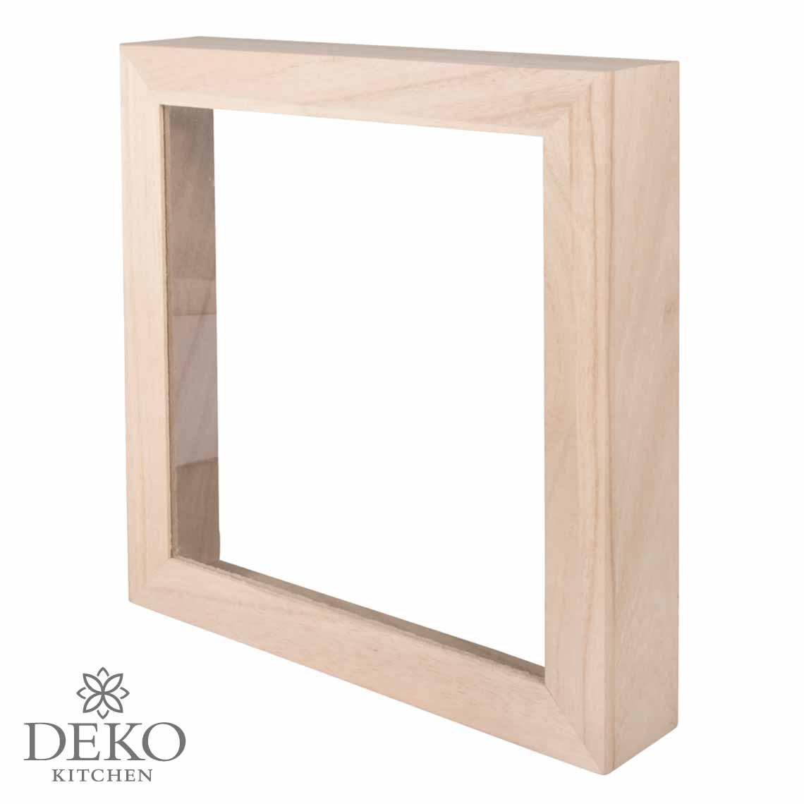 Holz-Rahmen 24 x 24cm mit Acrylglas | Deko Kitchen Shop