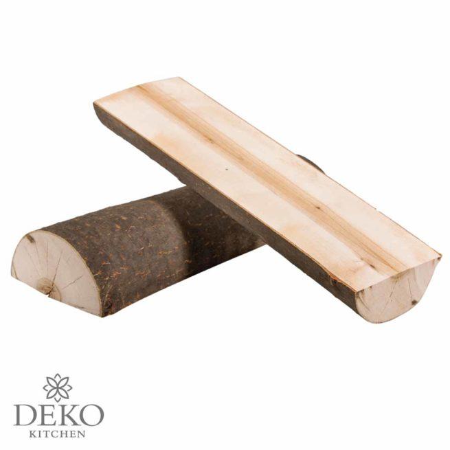 Holzstamm halbiert, 2 Teile