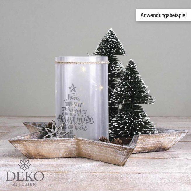 Deko-Tannenbaum beschneit, 25 cm