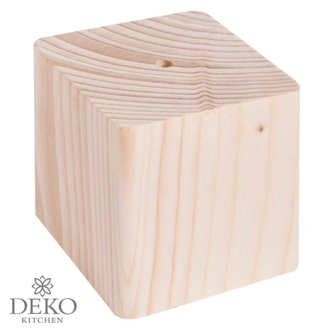 Holz-Sockel quadratisch, 6,5 x 6,5 cm