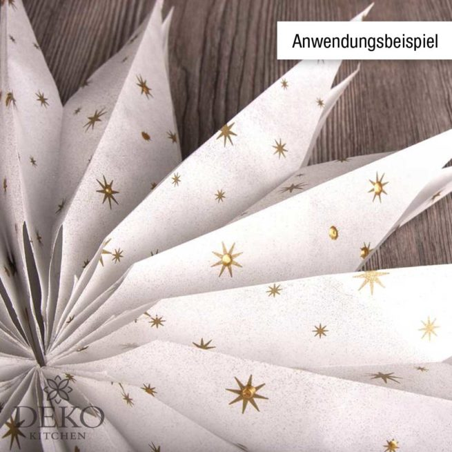 Papier-Faltbeutel mit Sternchen in Gold, 25 Stück