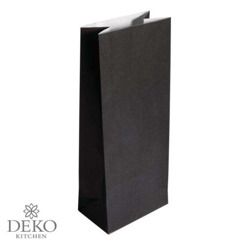 Papiertüte (Blockbodenbeutel) schwarz 25 Stk.