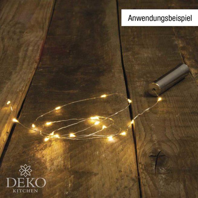 Mini-LED-Lichterkette mit Draht, 20 Lichtern