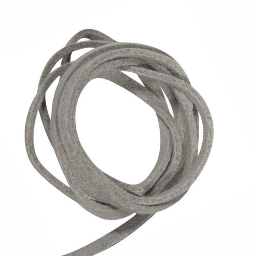 Micro-Wildleder Band 3 mm, grau