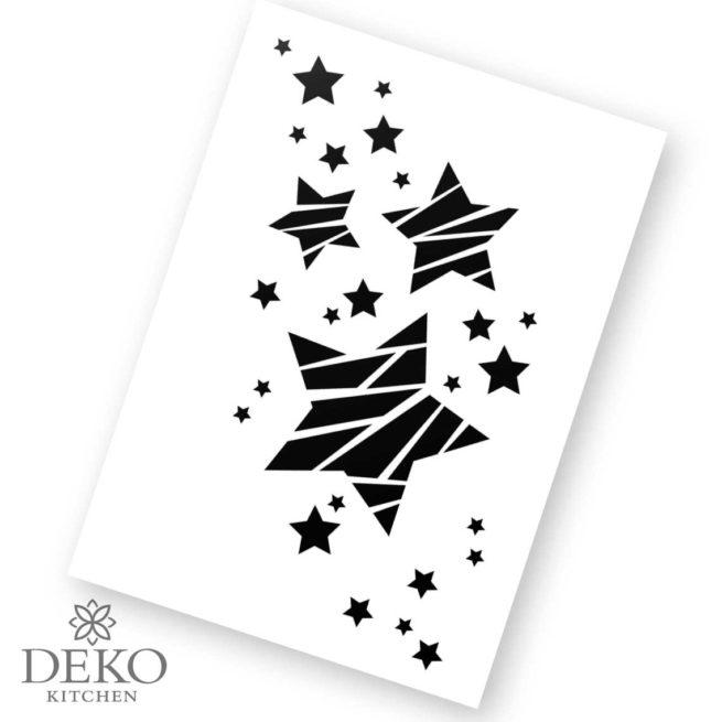 Schablone mit Sternen A4