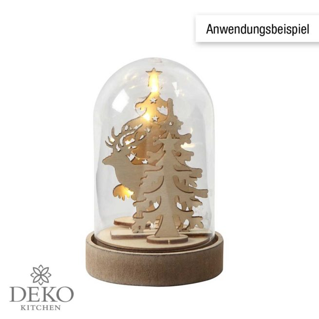 Deko-Haube mit hohem Sockel 12,5 cm