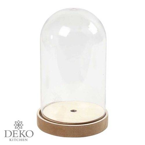 Deko-Haube mit hohem Sockel 18 cm
