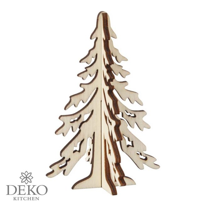 Tannenbaum aus Holz zum Zusammenstecken