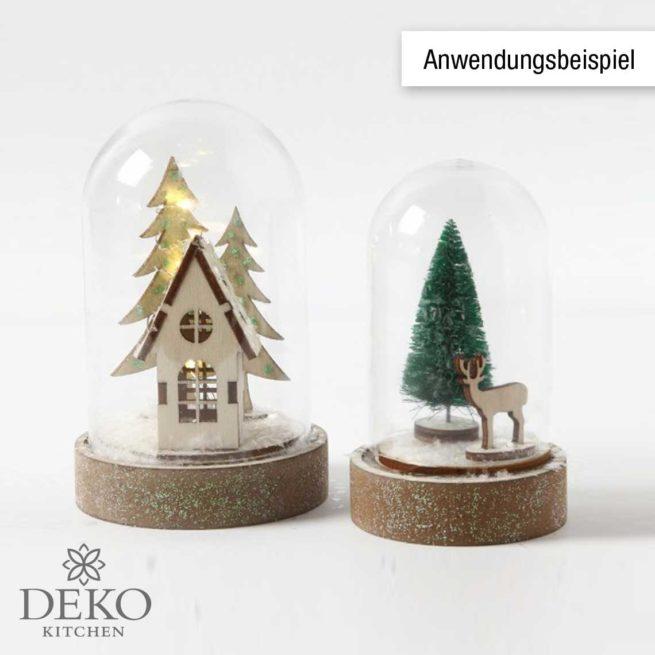 """Holzsteckteile """"Haus, Tannenbaum & Hirsch"""""""