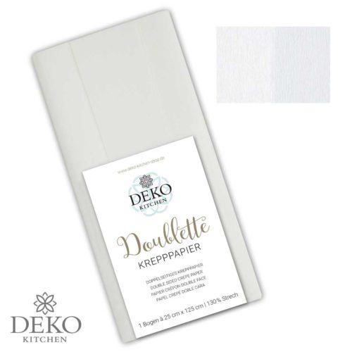 """Deko-Kitchen Doublette Krepppapier """"Weiß & Weiß"""""""