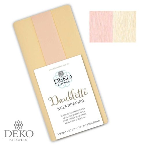 """Deko-Kitchen Doublette Krepppapier """"Rouge & Chiffon"""""""