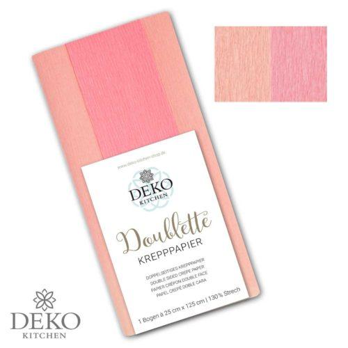 "Deko-Kitchen Doublette Krepppapier ""Hellrosa & Pink"""