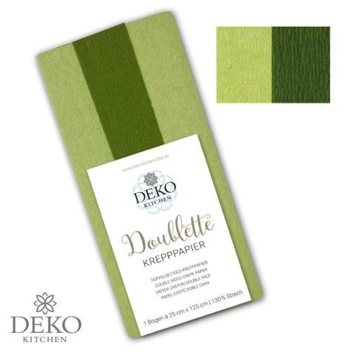 """Deko-Kitchen Doublette Krepppapier """"grüner Tee & Zypresse"""""""