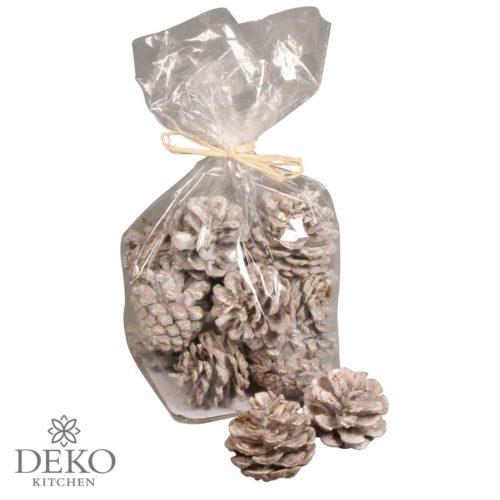 Kiefern-Zapfen weiß gekalkt 150g