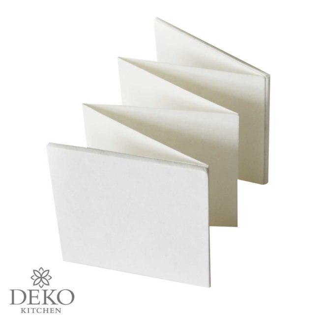 Leporello mit 6 Seiten, weiß, 13,5 x 13,5 cm